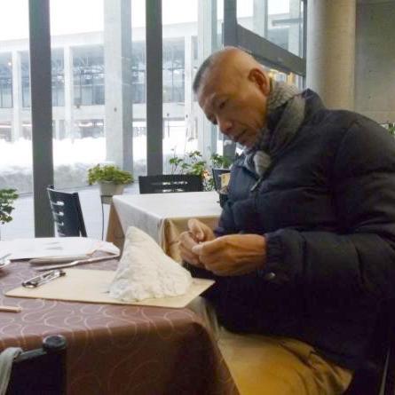 Cai Guo-Qiang planning for his exhibit in Echigo-Tsumari Art Triennale